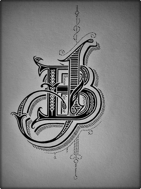 jb logo technique pigment ink monogram logo design