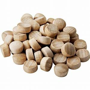 "Dome-Top Wood Plugs-3/8"" Diameter Rockler Woodworking"