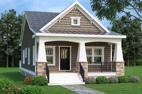 Bungalow Plan 966 Square Feet, 2 Bedrooms, 1 Bathrooms