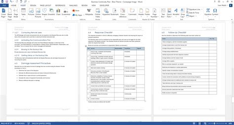 business continuity plan   pg ms word
