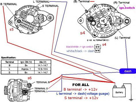 how to wire a l wiring diagram for charging system rx7club mazda
