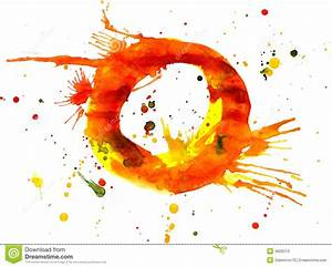 Watercolor Paint - Letter O Stock Photos - Image: 4602513