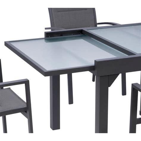 emejing salon de jardin aluminium salon de jardin aluminium et verre noir tinapafreezone com