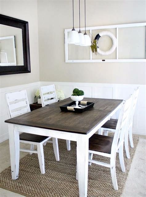 tone farmhouse dining table dining table makeover