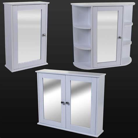 Bathroom Wall Cabinets With Mirror by White Wooden Mirror Door Indoor Wall Mountable Bathroom
