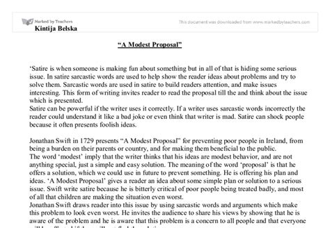 Jonathan Swift A Modest Proposal Essay  Ivoiregion A Modest Proposal Ideas Gallery Project Proposal Simple