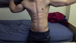 Ripped Aesthetic Muscle Flexing 21 Years Old 8 Pack Abs In