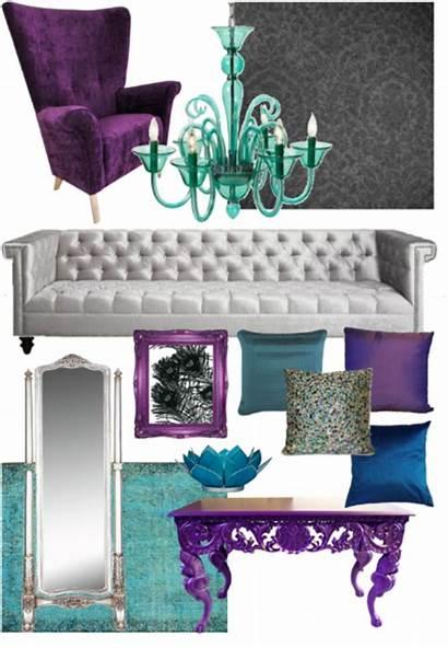 Peacock Colors Living Livingroom Moodboard Inspired Themed