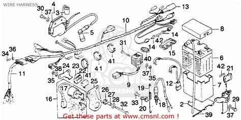 Cb750 93 Wiring Diagram by Honda Mt250 Elsinore K1 1975 Usa Wire Harness Schematic
