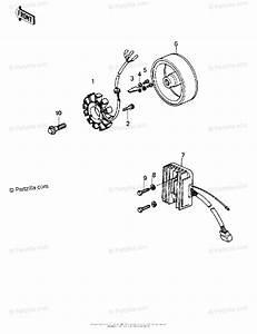Kawasaki Motorcycle 1980 Oem Parts Diagram For Generator