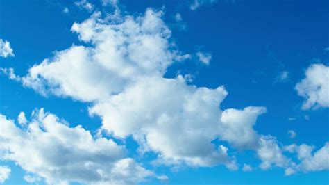 White Puffy Clouds in Blue Sky HD Wallpaper | Background ...