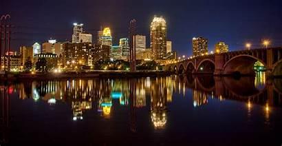 Minneapolis Minnesota Landmarks Night States United Mn
