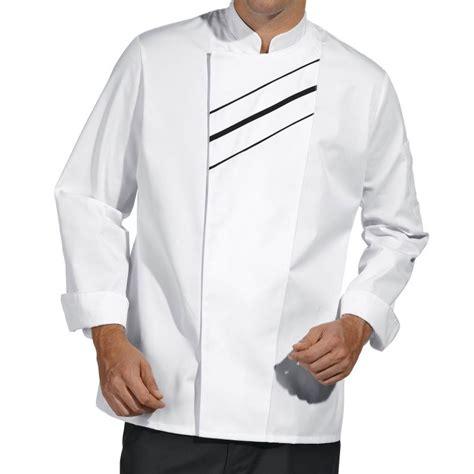 vestes cuisine veste de cuisine passepoil contrastant sur le devant