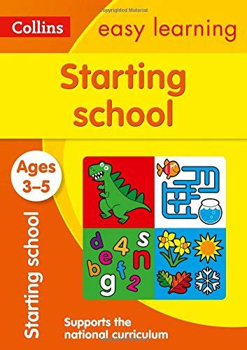 0008151601 starting school workbook ages starting school ages 3 5 new edition collins easy