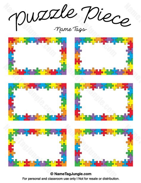 puzzle name tags name tags at nametagjungle 349   a408601a700c1e757db35dc29bf2a644