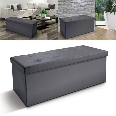 coffre rangement chambre banc coffre rangement pliable gris gm 100x38x38 cm meubles