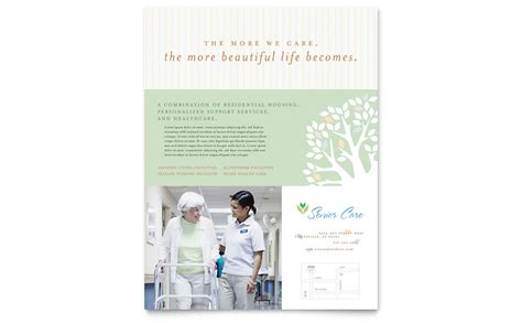 Elder Care Nursing Home Print Template Pack From Elder Care Nursing Home Flyer Template Word Publisher