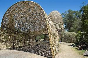 Woven sky a bamboo tunnel installation woven together for Woven sky
