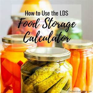 How To Use The Lds Food Storage Calculator