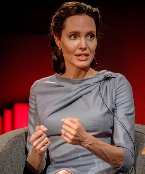 Angelina Jolie's Chic Gray Dress Is the Perfect Interview ...
