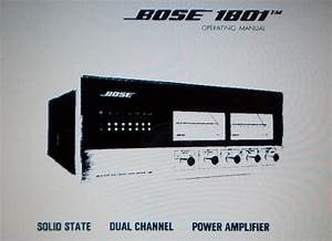 Bose 1801 Solid State Dual Channel Power Amp Power