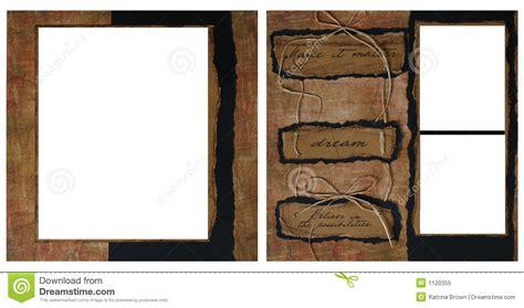 vintage scrapbook frame template stock illustration