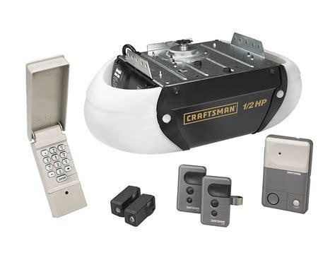 craftsman 1 2 hp garage door opener craftsman 1 2 hp chain drive garage door opener with