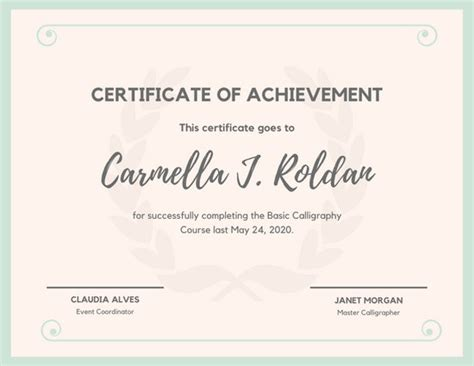 customize  achievement certificate templates  canva