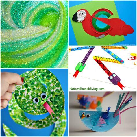 10 amazing rainforest crafts can make 988 | Rainforest Crafts kids fb