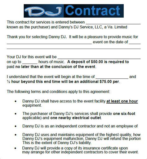 dj contract   documents