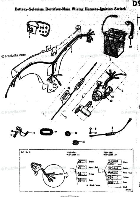 Suzuki Motorcycle Oem Parts Diagram For Battery