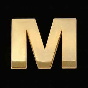 gold letter m 3cm chrome letter and sign With gold letter m