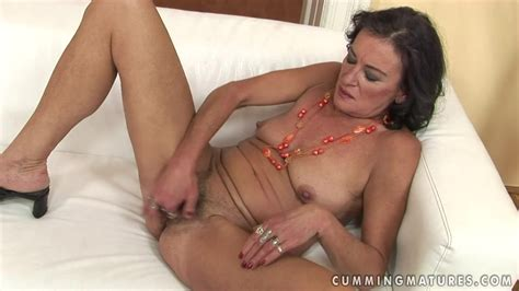 Dark Haired Mature Slut Gets Her Tight Hole Fucked With A Sex Toy