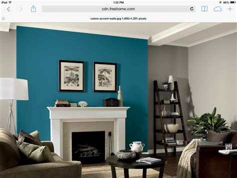 teal living room walls gray walls with teal fireplace accent wall iowa home