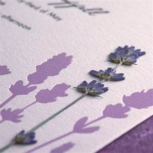 lavender field pressed flower letterpress wedding With pressed lavender wedding invitations