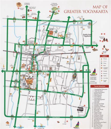 jakarta bandung jogja my my way peta wisata d i jogjakarta