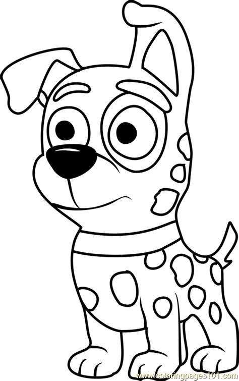 pound puppies patches coloring page  pound puppies