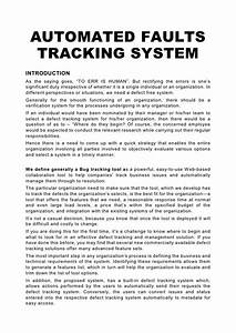automated faults tracking system With automated tracking system