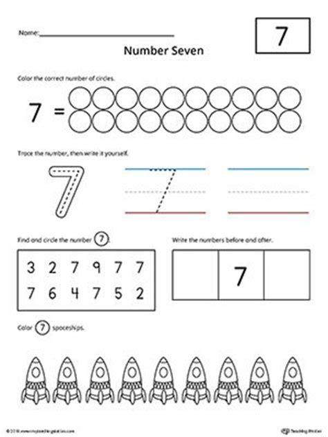 Number 7 Practice Worksheet  Writing Numbers, Printable Worksheets And Worksheets