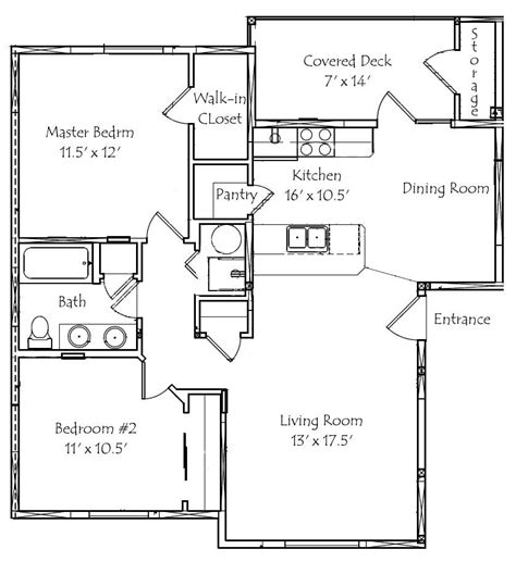 2 Bedroom 1 Bath Floor Plans by New 2 Bedrooms 2 Bathrooms House Plans New Home Plans Design