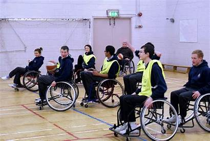 Disability Awareness Practical Hour Session Pupils Wheelchairs