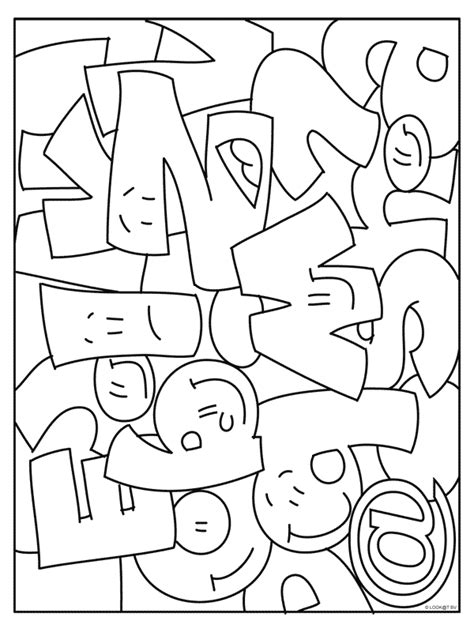 Letter Kleurplaat by Kleurplaten Grote Letters