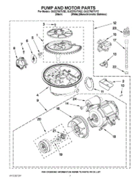 Parts For Whirlpool Guxtvy Dishwasher