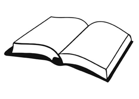 book drawing clipart