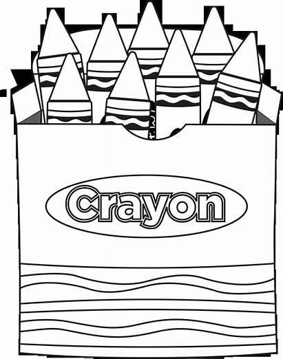 Crayon Coloring Pages Box Colouring Clipart Crayola