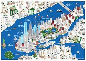 Plan De Manhattan : carte touristique new york imprimer roger habilleur ~ Melissatoandfro.com Idées de Décoration