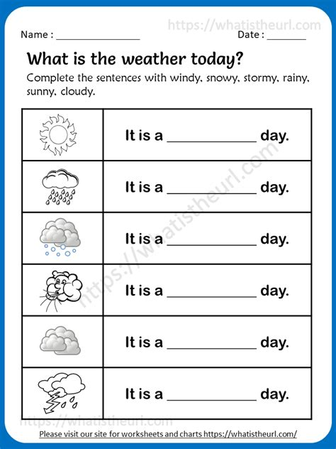 weather worksheets  grade   home teacher