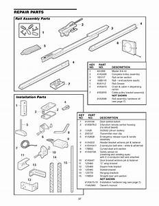 Repair Parts  Rail Assembly Parts  Installation Parts