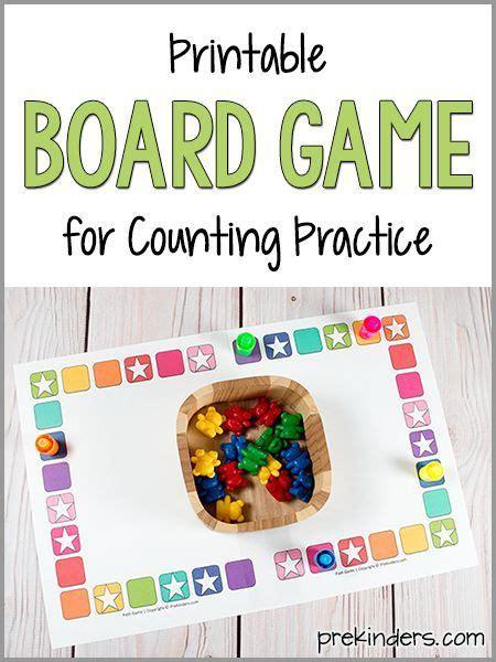 teach counting skills   board game preschool
