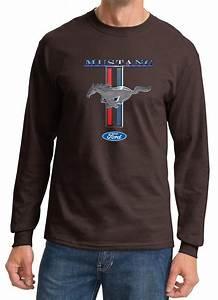 Ford Mustang Shirt Stripe Mens Long Sleeve Tee T-Shirt - Ford Mustang Stripe Shirts